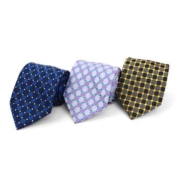 Geometric Microfiber Poly Woven Tie - MPW5836