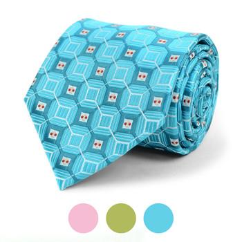 Geometric Microfiber Poly Woven Tie - MPW5837