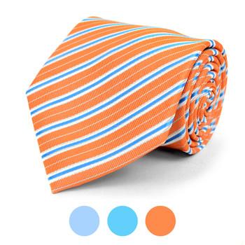 Striped Microfiber Poly Woven Tie - MPW5841