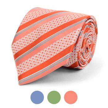 Striped Microfiber Poly Woven Tie - MPW5842