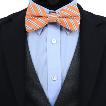 3pc Prepack Men's Poly Woven Striped Banded Bow Tie FBB5841
