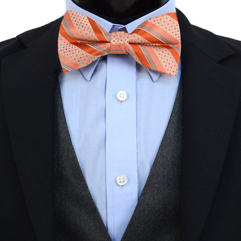 3pc Prepack Men's Poly Woven Striped Banded Bow Tie FBB5842