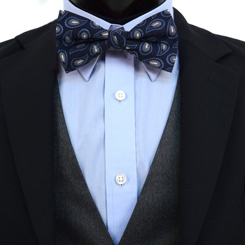 3pc Prepack Men's Poly Woven Paisley Banded Bow Tie FBB5844