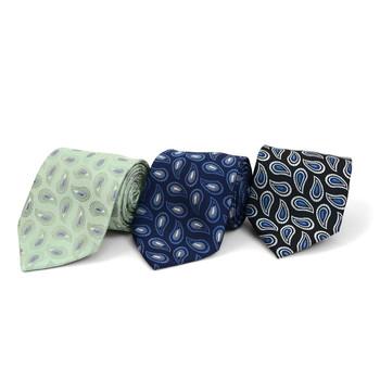 Paisley Microfiber Poly Woven Tie - MPW5844