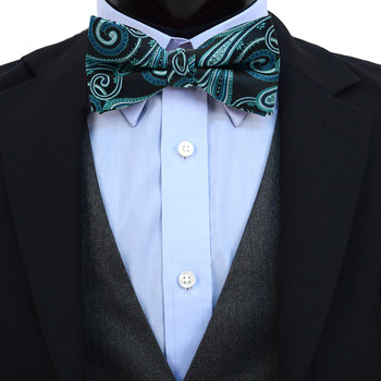 3pc Prepack Men's Poly Woven Paisley Banded Bow Tie FBB5846