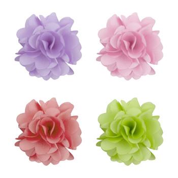 Assorted Solid Mini Bouquet Clutch Back Flower Lapel Pin 4pc Combo Set 4FLP-CORAL