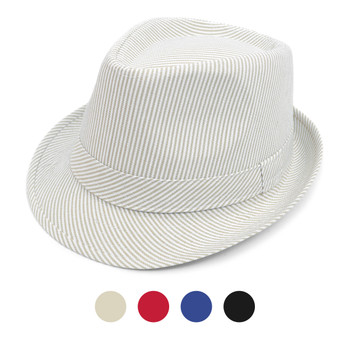 Spring/Summer Striped Fashion Trilby Fedora FSS17103