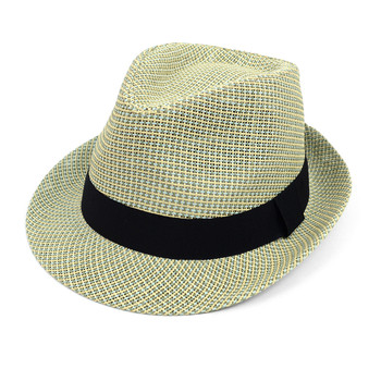 Spring/Summer Woven Fashion Trilby Fedora with Black Band FSS17109
