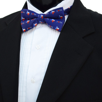 Men's I Love Texas Banded Bow Tie