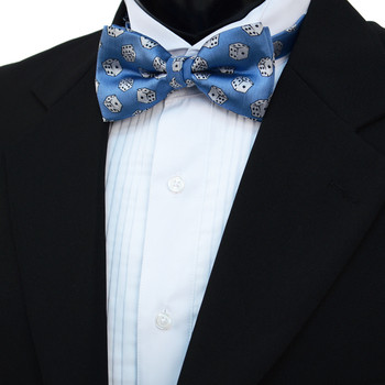 Men's Dice Pattern Banded Bow Tie