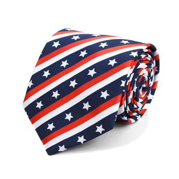 U.S Flag Pattern Novelty Tie NV10039