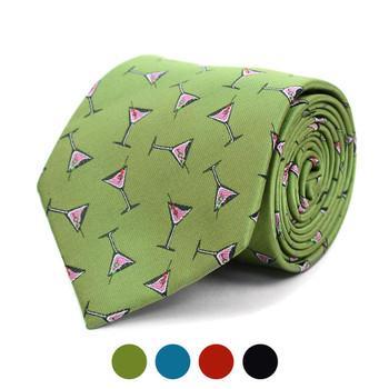 Martini Glass Pattern Novelty Tie