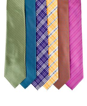 6pc Assorted Men's Micro Woven Zipper Ties MPWZ5350