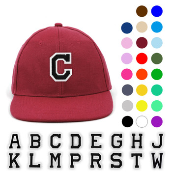Varsity Letter Initials Promotional Solid Blank Embroidery Patch Baseball Cap, Hat