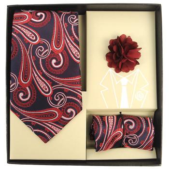 Paisley Pattern Tie, Hanky & Lapel Pin Box Set THLB07045M