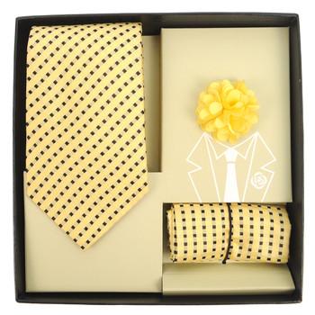 Plaid Tie, Matching Hanky & Lapel Pin Box Set THLB07071