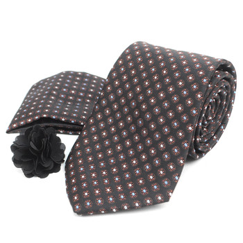 Dotted Tie, Matching Hanky & Lapel Pin Box Set THLB07042