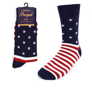 Men's USA Stars & Stripes Novelty Socks NVS1738