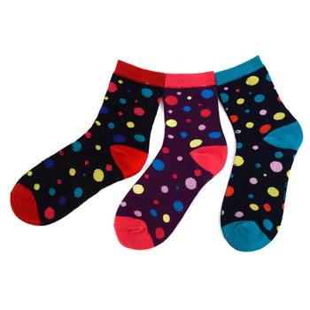 3 Pairs Assorted Pack Women's Crew Socks 3PKS-WCS1