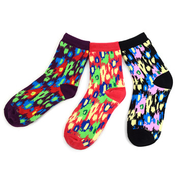 3 Pairs Assorted Pack Women's Crew Socks 3PKS-WCS6