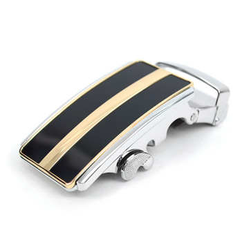 Men's Genuine Leather Sliding Buckle Ratchet Belt MGLBB10