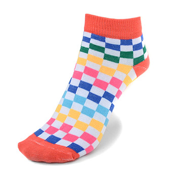 Assorted Pack (6 pairs) Women's checkered Low Cut Socks LN6S-690