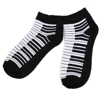 Assorted Pack (6 pairs) Women's Music Theme Low Cut Socks LN6S-609