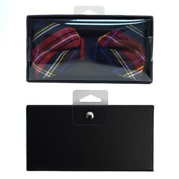 Men's  Plaid Flannel Cotton Banded Bow Tie NFB1640