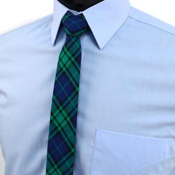"""Men's Plaid Flannel 2.25"""" Cotton Slim Tie - MPPW1639"""
