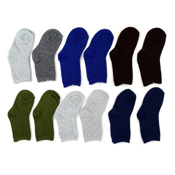 12pairs Assorted Boy's Solid Color Crew Socks TDSD