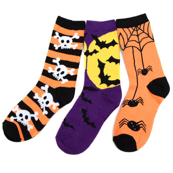 4-Packs (3 pairs/pack) Women's Halloween Theme Novelty Socks NVS625