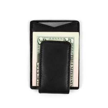 Leather Money Clip with Magnetic Closure MC-2091
