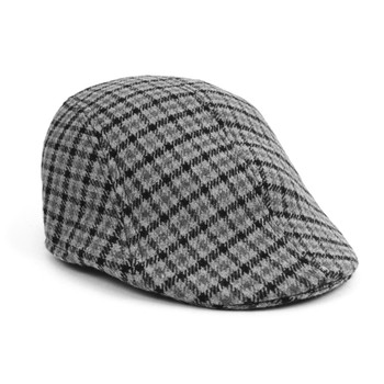 Fall/Winter Gray Plaid Ivy Hat - IFW1724-1