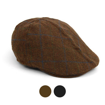 Fall/Winter Soft Tattersall Plaid Ivy Hat - IFW1726