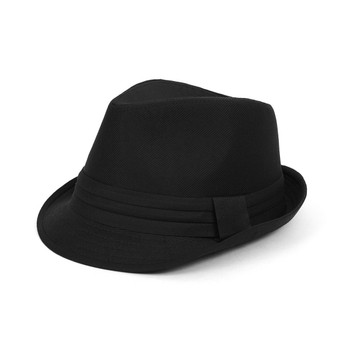 Fall/Winter Textured Black Fedora Hat with Band Trim H171224-BLK
