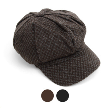 Fall/Winter Unisex British Newsboy Soft Weave Beret Style Cap - WNH1762-64