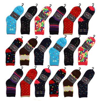 18-Packs (54 pairs) Women's Crew Socks WCS/ASST