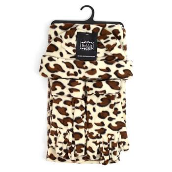Women's Jaguar Print Fleece Winter Set WNSET9015