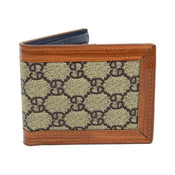 Bi-Fold Designer-Print Wallet with Leather Trim MLW5181