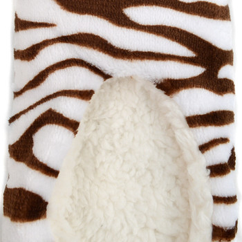 Women's Zebra Warm & Cozy Indoor Non Slip Grip Slipper WFWS2723-24