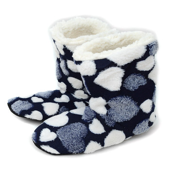 Women's Heart Warm & Cozy Indoor Non Slip Grip Slipper Bootie WFWB1711
