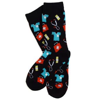 12pairs Women's Doctor/Nurse Pattern Novelty Socks LNVS1748
