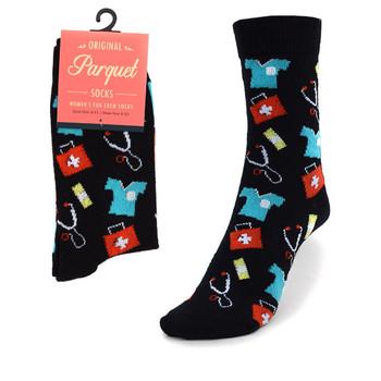 Women's Doctor/Nurse Pattern Novelty Socks LNVS1748