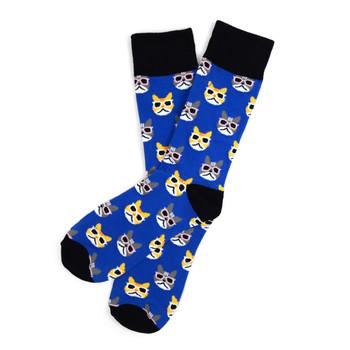 12pairs Men's Cool Cats Novelty Socks NVS1745