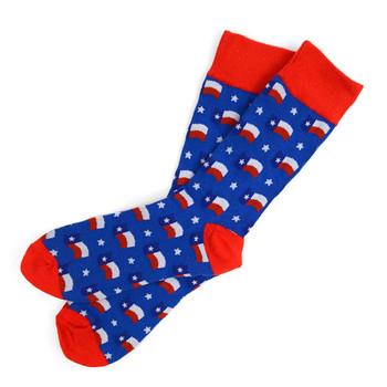 12pairs Men's Texas Flag Novelty Socks NVS1764