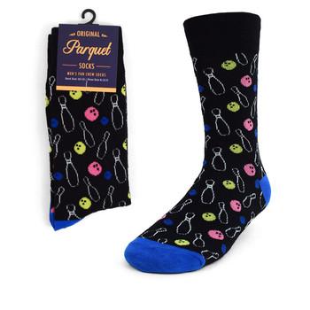Men's Black Bowling Novelty Socks NVS1769