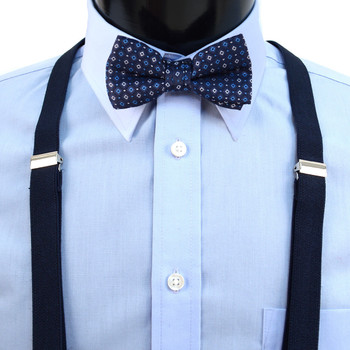 Boy's Navy Clip-on Suspender & Neat Bow Tie Set(8~12 Years)