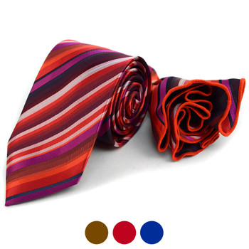 Stiped Tie & Matching Pocket Round Set MPWTH170626