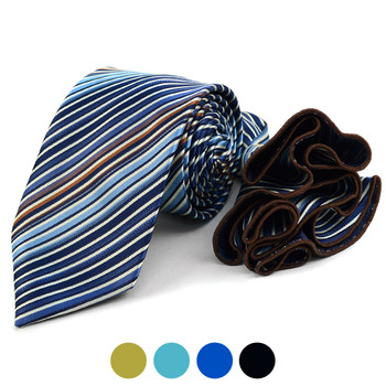 Stiped Tie & Matching Pocket Round Set MPWTH170627