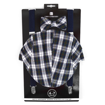 6pc Assorted Boy's (4~7 years) Ivy Hat, Bow Tie & Suspender Set - BSBIV0807